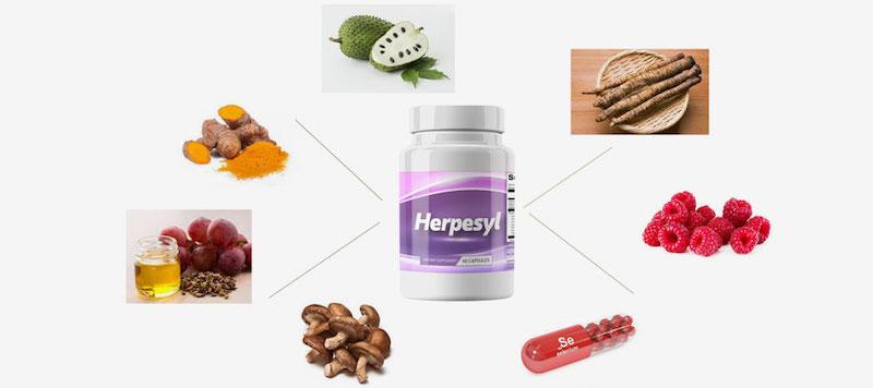 Herpesyl Ingredients Label