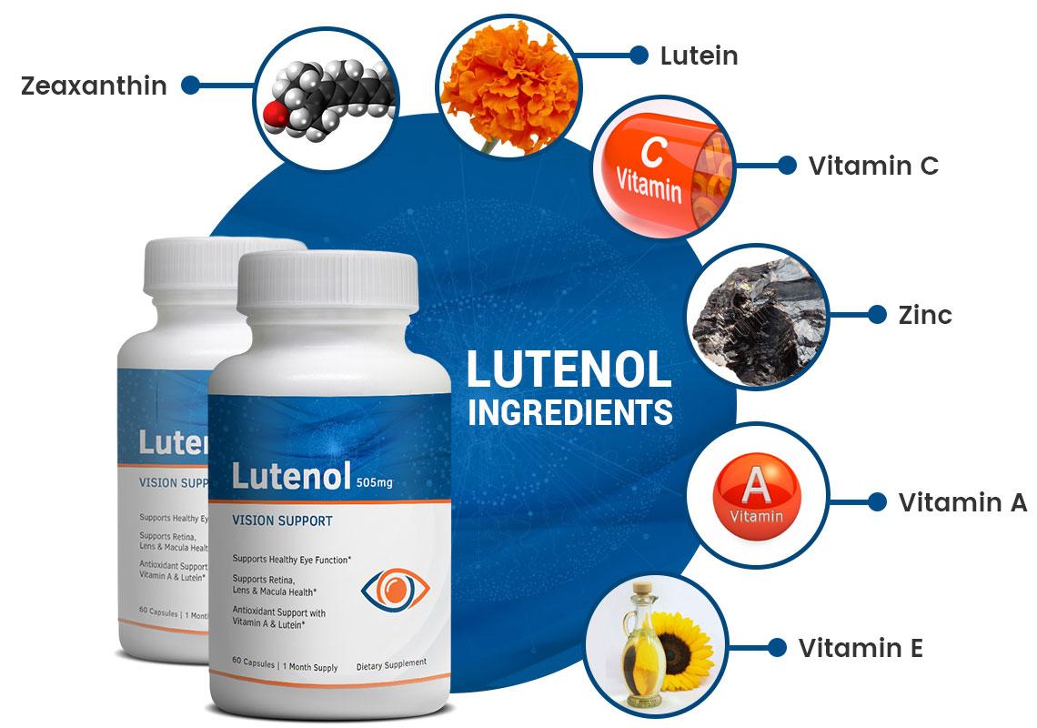 Lutenol Ingredients Label
