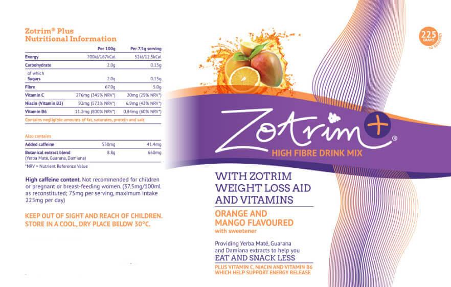 Zotrim Ingredients Label